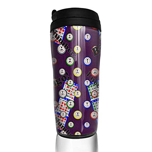 Travel Coffee Mug Bingo I Need One More Numbe 12 Oz Spill Proof Flip Lid Water Bottle Environmental Protection Material ABS