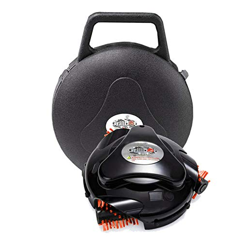 Grillbot   automatischer Grillreinigungsroboter mit Tragetasche - Grillreiniger - Grillbürste - Grillschaber - Grillzubehör für Grills mit Deckel (Schwarz)