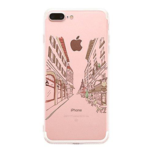 Custodia iPhone 8 Plus, Cover iPhone 7 Plus, Alsoar Elefante Ananas Ultra Slim Sottile e Anti-Graffio Antiscivolo Silicone Custodia Cover per iPhone 8 Plus, iPhone 7 Plus 5.5  (Costruzione)