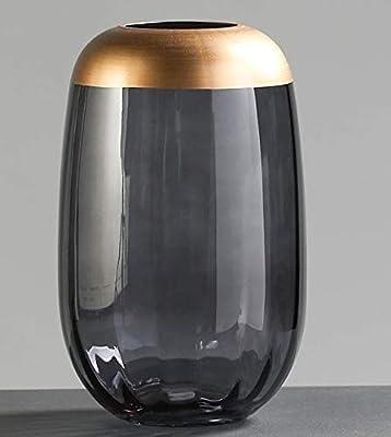 SHFives Vaso di vetro Vaso Trasparente Modern Minimalist Home Living Room Decorazioni per la tavola,
