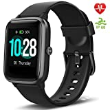 """Letsfit Fitness Trackers, Smart Watch with 1.3"""" Touch Screen, Activity Tracker with Heart"""