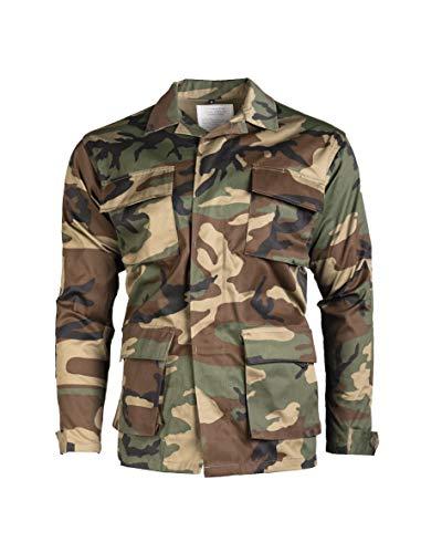 Mil-Tec BDU combattimento Camicia Woodland Taglia M