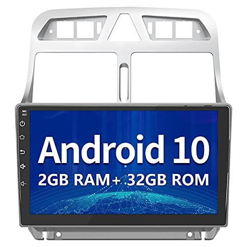 AWESAFE Android 10.0 Radio Coche para Peugeot 307 SW 2002 - 2013, 9 Pulgadas Radio Pantalla Táctil, Autoradio con Bluetooth/GPS/FM/RDS/USB/RCA, Apoyo Mandos Volante, Mirrorlink y Aparcamiento