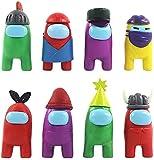 CYSJ 8 PCS Entre Nosotros muñecas, Among Us Game Doll Hot Game Figure, Figures Set de decoración para decoración de Oficina de Coche, Decoración de Mesa de Navidad Manualidades para Regalo