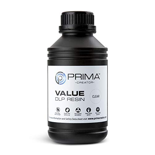 PrimaCreator Value - Resina UV/DLP (500 ml/1000 ml), 500 ML, transparente, 1