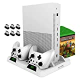 Vertical Cooling Stand for Xbox One/S/X, OIVO Cooling Fan with Controller Charging Dock Station LED Indicators Included