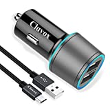 Rapid USB C Car Charger, Compatible for Samsung Galaxy S21/Note 20/Ultra/10/Plus/9/8/S20/S20 Plus/Ultra/S10+/S10e/S9/S8/A50/A70, Quick Charge 3.0 Dual USB 18W Fast Car Charger with Type C Cable 3.3ft