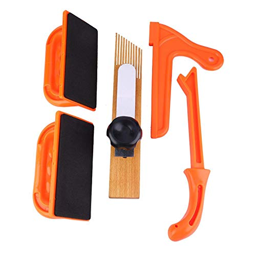 Safety Push Block Stick Set Table Saw Angle Handle Foam Pad Push Block Woodworking Router Table Tools Push Stick for Table Saw, Router Tables, Jointers Band Saws