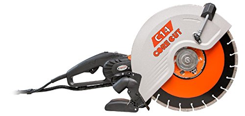 Diamond Products Core Cut 48975 C14 Electric Hand Wet and Dry Concrete Saw, 14'