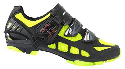 Massi Nexus Kimera - Zapatillas para hombre, color negro / amarillo, talla 43