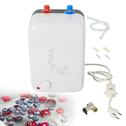 Calentador de agua eléctrico instantáneo de 1500 W, para cocina, pequeño calentador, resistente a la presión, 8 L, 0,7 Mpa, almacenamiento de agua caliente instantáneo