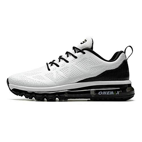 ONEMIX Sneakers da Uomo Scarpe da Corsa con Cuscino d'Aria in Pelle Scarpe da Ginnastica da Trail Outdoor Y1118D-BH-45