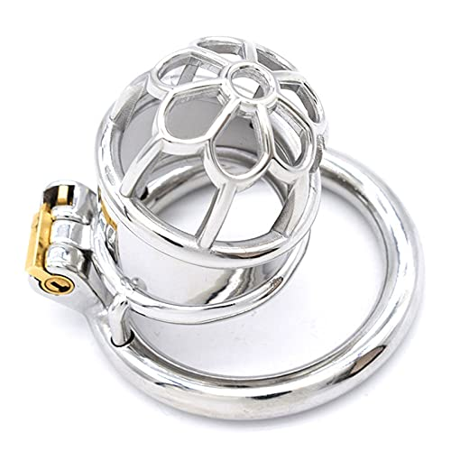 YLCScsch Sm Male Chastity Cage Locks Dick Curve Chastity Bird Cage Device Metal Male Chastities Devices for Men Steel Adult BDSM Tools Sunglasses (Size : Ring Diameter: 45mm)