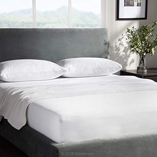 WEEKENDER Combo Pack Hypoallergenic Waterproof Mattress Protector + 2 Pillow Protectors - Premium Bed Protection Set - Queen