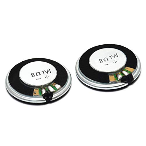 Gikfun 28 mm 8 Ohm 1 W Full Range Audio Lautsprecher Stereo Woofer Lautsprecher für Arduino (2 Stück) EK1822