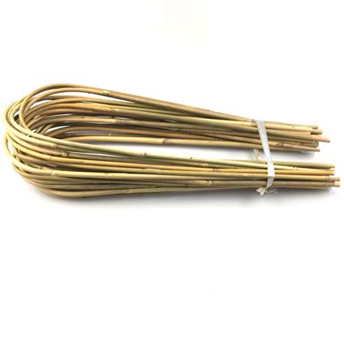 Flee Bambus Spalier für Pflanzen, U-Form, Bambus-U-Hoop für Pflanzen, 45,7 cm/25 Stück