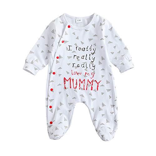 Loalirando Uinisex I Really Love My Mummy/Daddy Body de bebé Pijama entero Día de la Madre / papá I Love My Mummy--b 12-18 meses