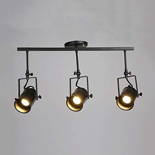 Industriële retro LED 3 sokkel spot licht plafond hanglamp zwart voor cafe bar eetkamer restaurant winkel kroonluchter (kleur: warm licht)