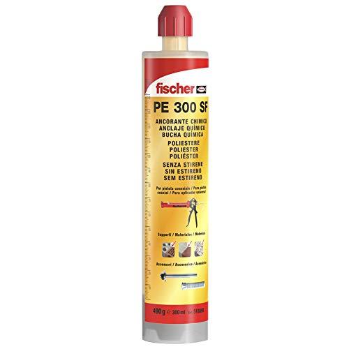 fischer - Anclaje Químico Fis Pe 300 SF / Resina o Taco químico Poliéster (cartucho de 300 ml) para fijaciones económicas en mampostería que no requieran homologación, reutilizable