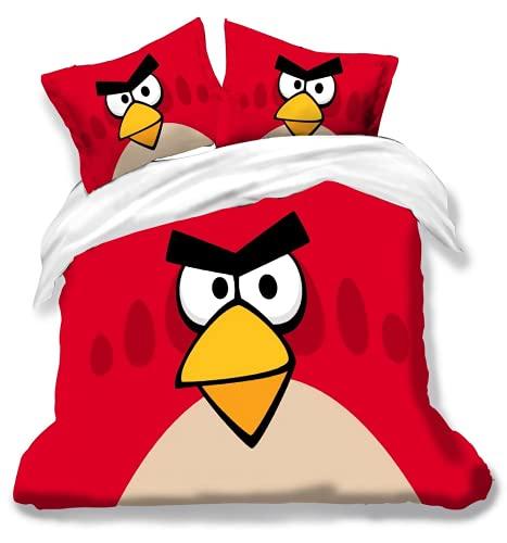 JXSMYT Angry Birds - Juego de ropa de cama infantil (135 x 200 cm), diseño de Angry Birds