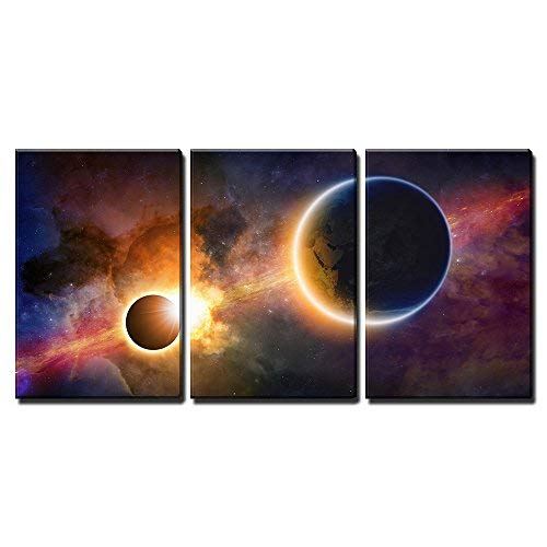 3 Piece Abstract Science Canvas Art