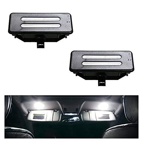 Rumors Reemplazo Xenon White LED Vanity Mirror Monificador de luz Lámpara Blanca Ajuste para BMW E60 E61 E90 E91 E92 E70 (Color : Black)