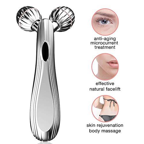MU Massage du visage, Micro actuel Rouleau de beauté Instrument double menton Lifting Fermeté visage Massager pour Full Body Massage Outils de soins