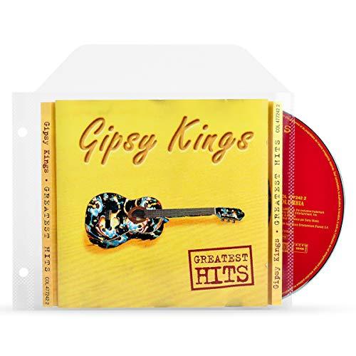 3L CD Hüllen für Aufbewahrung - CD Hüllen Plastik mit Ringbuch-Löcher - 100 Stück - Praktisch für CD Mappe/Album/Aufbewahrungssystem - 10294