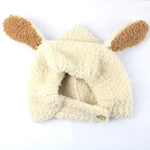 Y-WEIFENG New Bestknit bébé Filles Pompon Chapeau Props Crochet Tricoté Pom Pom Chapeau Bonnet Earflap Beanie Chaud Automne Hiver (Couleur : Blanc)
