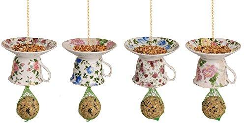 Esschert Design FB242Tazza da tè con piattino Upside Down Feeder