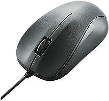 エレコム マウス 有線 Mサイズ 3ボタン USB 光学式 ブラック ROHS指令準拠 M-K6URBK/RS