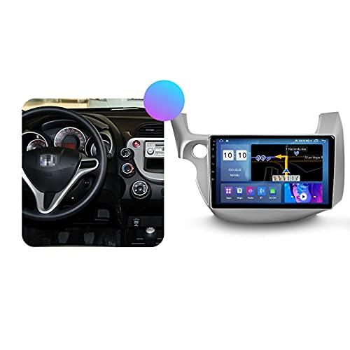 Android 10.0 Car Stereo Double DIN Radio para H-Onda Jazz/Fit 2007-2014 Navegación GPS Reproductor Multimedia de 10 '' Receptor de Video Bluetooth con 4G / 5G WiFi SWC DSP USB Carplay