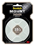 Scotch Indoor Mounting Tape, 1-inch X 125-inches, White, 1-Roll...