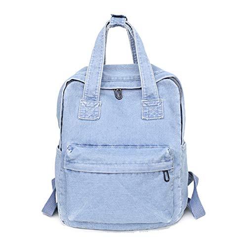 Vintage Denim Backpack School Travel Daypack Shoulder Bags for Teenager Girls by Irjdksd