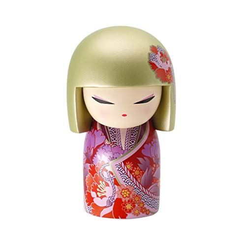 Kimmidoll Kokeshi 10 cm Ayana – Colourful Version Englisch