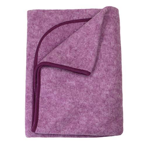 Cosilana Baby Decke Wollfleece Weinrot-Melange 139