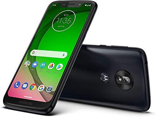 "Moto G7 Play (32GB, 3GB RAM) 5.7"" HD+ Max Vision, 4G LTE T-Mobile Unlocked (AT&T, Metro, Straight Talk, Global) XT1952-4 (Black, 64GB SD Bundle)"