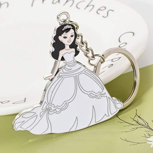 YCEOT Sleutelhanger Bruidsjurk Vrouwen Fijne Sleutelhanger Voor Romantische Bruiloft Gift Zink Legering Sleutelhouder Sieraden