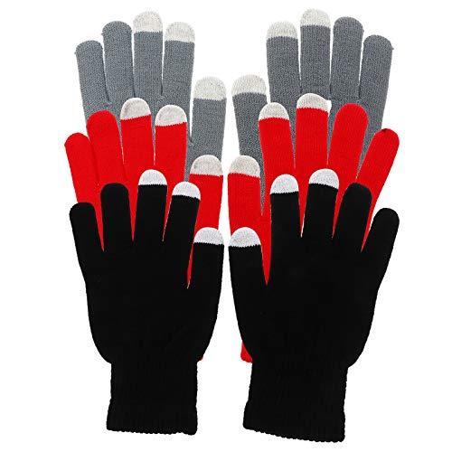 Lurrose 3 pares de guantes de pantalla táctil de cubierta completa invierno al aire libre guantes de equitación espesados