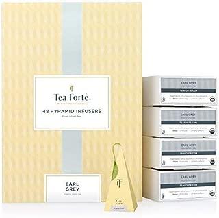 Tea Forte Earl Grey EVENT BOX Bulk Pack, 48 Handcrafted Black Tea Pyramid Infuser Bags