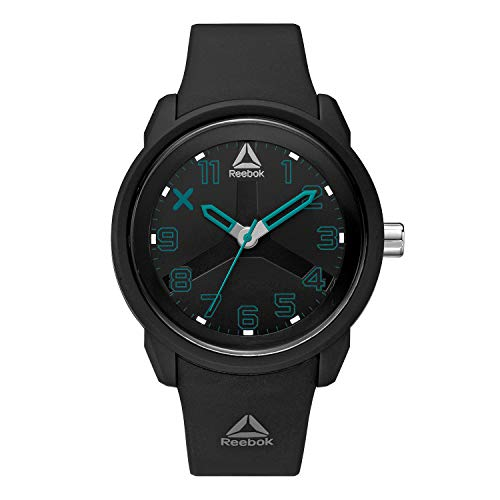 REEBOK ONC Reloj negro para hombre, caja de 46 mm, cara negra, caja ABS, correa de silicona negra, esfera negra (RD-ONC-G2-PBPB-BH)