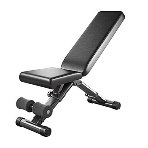 WyaengHai Trainingsbank Sit Up Bank Core AB Workout Fitness Trainercise Machine Einstellbares Oberschenkeln Home Fitnessstudio (Farbe : Black, Size : 142x41x51cm)