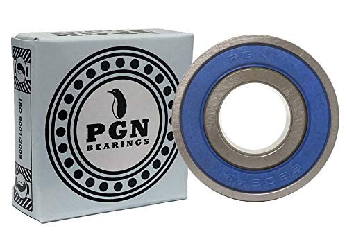 (2 Pack) PGN 6203-2RS Sealed Ball Bearing - C3 - 17x40x12 - Lubricated - Chrome Steel