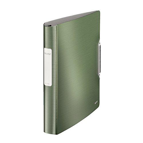 Leitz Raccoglitore a 4 anelli SoftClick, Formato A4, Dorso 5.2 cm, Chiusura a elastico, Polyfoam leggero, Verde Celadon, Active Style, 42450053