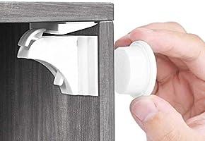 Babysicherheit Magnetisches Schrankschloss 20 Schlösser mit 3 Schlüssel, unsichtbare Kindersicherung für Schrank und...