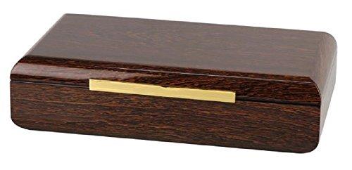 PASSATORE Humidor Ironwood-Design Pianolack für ca. 50 Cigarren, Digitaler Hygrometer