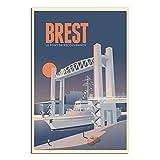 Vintage-Poster Travel, Brest Le Pont De Recouvrance