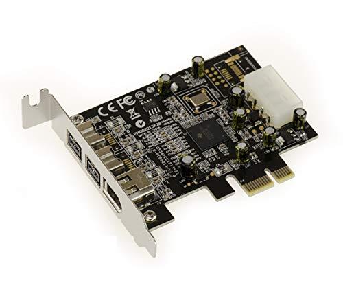 KALEA-INFORMATIQUE Low Profile PCI-Express-Karte/Controller-Karte (FireWire 800 und 400 / IEEE 1394a und IEEE 1394b über PCIe 1x, 2+1 Ausgänge, Chipsatz TI XI02213BZAY