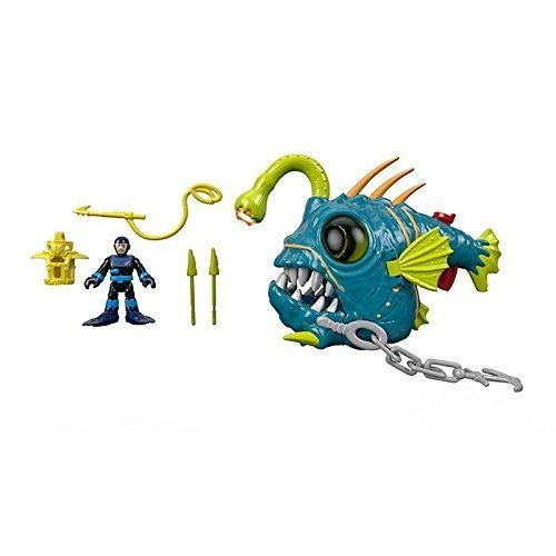 New - Imaginext Ocean Fighting Angler Fish with Diver Figure