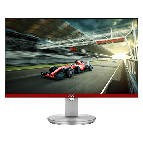 AOC Limited Edition G2490VXS 24' class Frameless Gaming Monitor with Silver Stand, FHD 1920x1080,...
